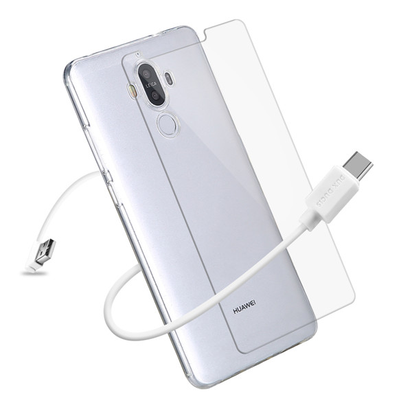3IN1 Series TPU+USB Cable+Tempered Glass for Huawei Mate 9
