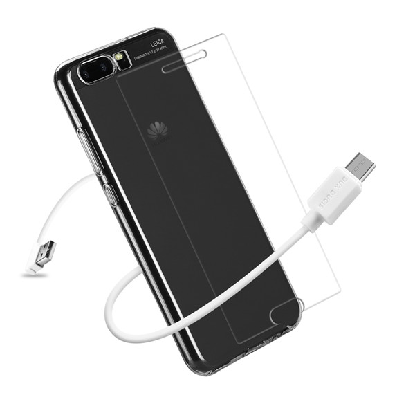 3IN1 Series TPU+USB Cable+Tempered Glass for Huawei P10