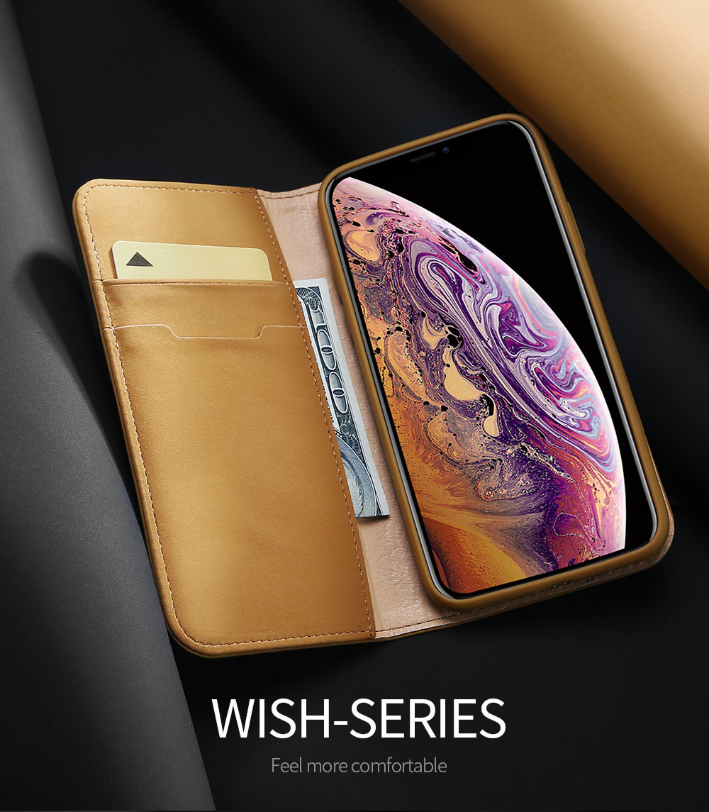 Wish Series Leather Case For Iphone Xs Max Auto Sleep