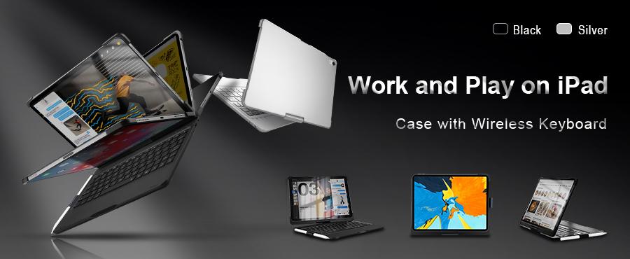 iPad Case with Wireless Keyboard