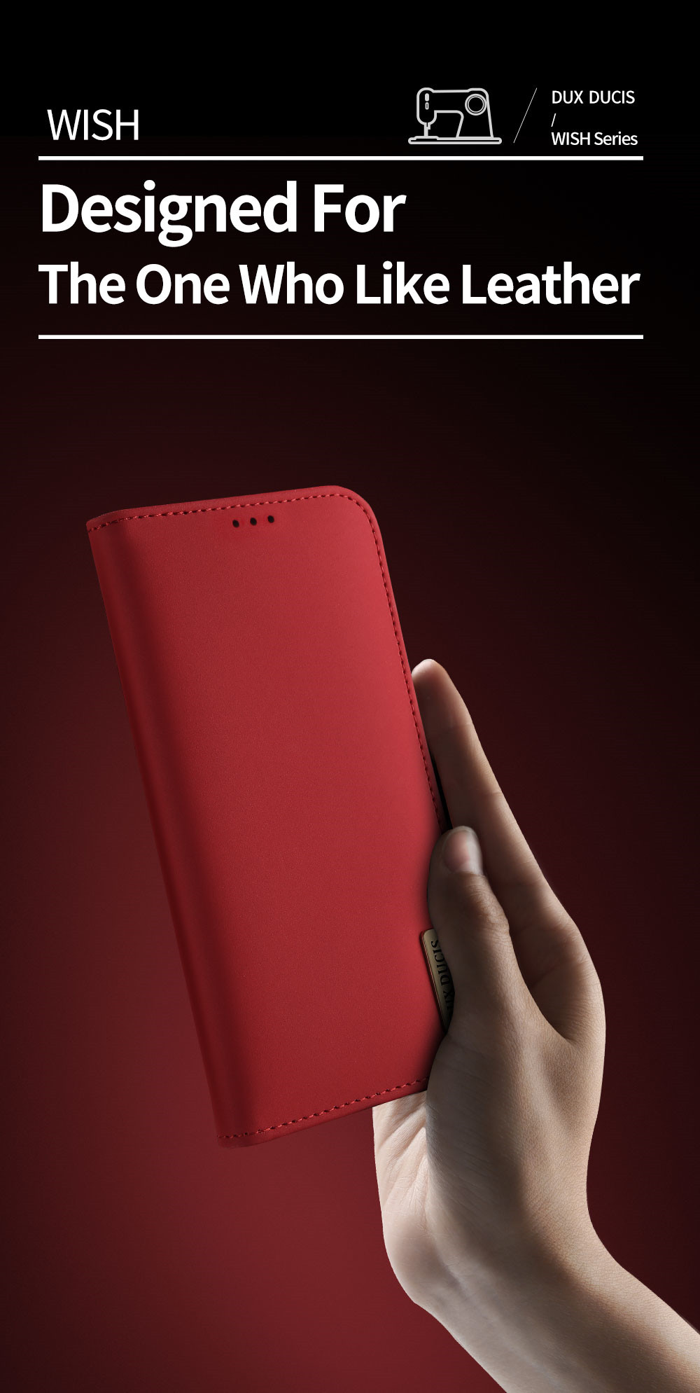 Wish Series Leather Case For Samsung Galaxy Note 10 Plus